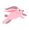 cartoon pink bunny vector image vector image
