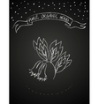 Chalk flower on blackboard vector image vector image