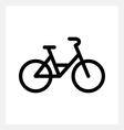 City bike icon vector image