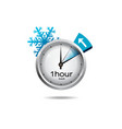 Clock switch to winter time vector image vector image