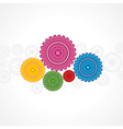 Colorful gear on white background vector image vector image