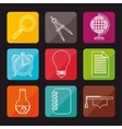 concept education elements school vector image