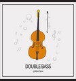 contrabass bow icon vector image