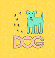 cute dog terrier funny caricature animal vector image