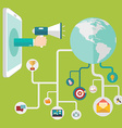 Digital marketing and Social networking conceptual vector image vector image