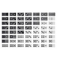 domino full big set black and white color vector image vector image