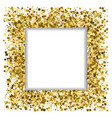 festive frame gold spangles square background vector image