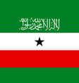 flag of republic of somaliland vector image vector image