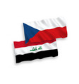 flags czech republic and iraq on a white vector image vector image