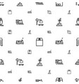 freight icons pattern seamless white background vector image vector image