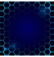futuristic blue honeycomb pattern hexagonal vector image vector image