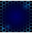 futuristic blue honeycomb pattern hexagonal vector image vector image