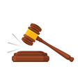 gavel law auction mallet court justice legal vector image
