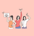 girl power and feminism concept vector image