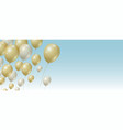 gold and silver balloons background vector image vector image