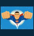 grunge comic-like super-hero vector image vector image