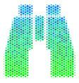 halftone blue-green find binoculars icon vector image vector image