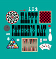 happy fathers day games vector image vector image