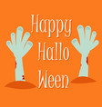 happy scary halloween greeting card with zombie ha vector image