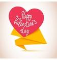 Happy Valentines Day Flyer Valentines Day vector image vector image