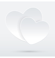 heart on white vector image