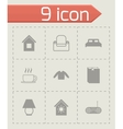 homey icon set vector image