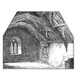 interior somersetshire fishermans cottage vintage vector image vector image