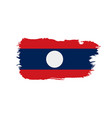 laos flag vector image vector image