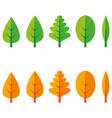 leaf set vector image vector image