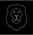 Lion head the white path icon vector image