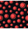 Luxury Dark Seamless Background with Red Diamonds vector image