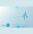 medical cardio template vector image vector image