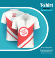 mens t-shirt mockup advertising concept vector image vector image