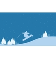 Merry Christmas winter landscape collection vector image vector image