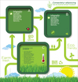 Modern ecology template design vector image vector image