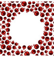 new year background with red balls vector image
