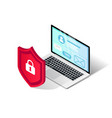online safety isometric concept laptop vector image