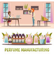 perfume shop banner set vector image vector image