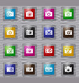 photo camera glass icon set vector image