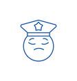 policeman emoji line icon concept policeman emoji vector image vector image