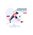 race hurdles jumping icon vector image vector image