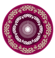 Round purple lace vector image vector image