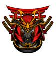 samurai robot mask vector image vector image