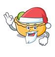 Santa fruit tart mascot cartoon