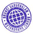 scratched textured brunei darussalam stamp seal vector image vector image
