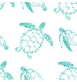 sea turtles seamless background vector image