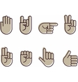Set of hand signes vector | Price: 1 Credit (USD $1)