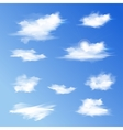 Set of white different clouds vector image vector image