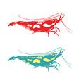 shrimp silhouette vector image vector image