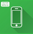 smartphone icon in flat style phone handset with vector image vector image